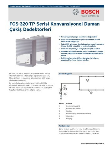 FCS-320-TP Serisi Konvansiyonel Duman - Bosch Security Systems