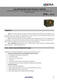 1 01G... Serisi - Era Yakma ve Gözetleme Kontrol Sistemleri