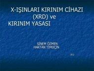 x-ışını kırınım cihazı (xrd)