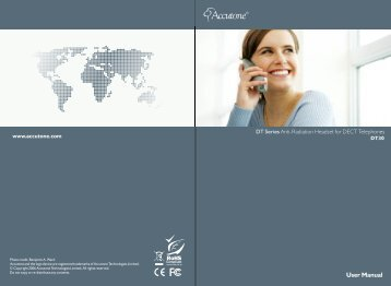 User Manual - Accutone Technologies