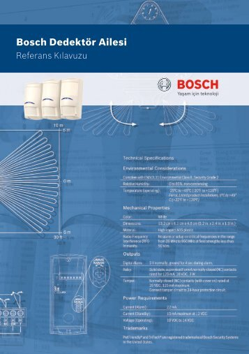 Bosch Dedektör Ailesi - Bosch Security Systems