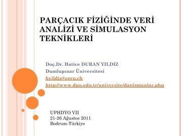 Hatice DURAN YILDIZ - Paracık Fiziğinde Veri Analizi ve - THM Türk ...
