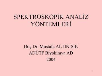 02 Spektroskopik analiz yöntemleri - Mustafaaltinisik.org.uk