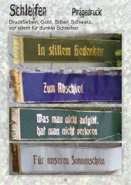 Trauerschleifen - Blumen Kaltenbeck