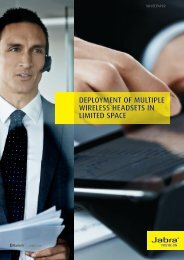 deployment of multiple wireless headsets in limited space - Jabra