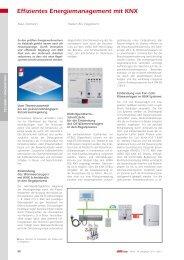 Effizientes Energiemanagement mit KNX - Theben