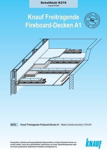knauf freitragende fireboard decke a1 vti. Black Bedroom Furniture Sets. Home Design Ideas