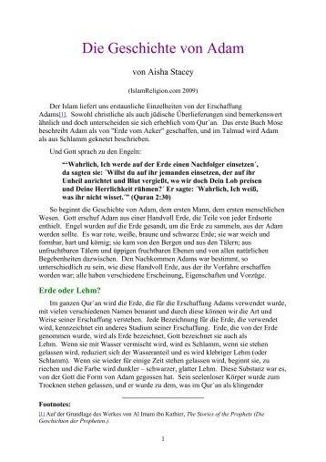 Die Geschichte von Adam - Way to Allah