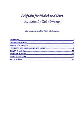 Leitfaden für Hadsch und Umra - Way to Allah