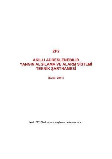 zp2 akıllı adreslenebilir yangın algılama ve alarm sistemi teknik ...