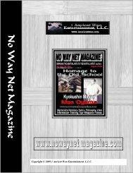 No Way Net Magazine August 09 - 1 Ancient Won Entertainment.LLC