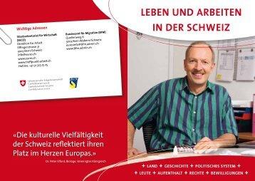"""Leben und Arbeiten in der Schweiz """"Aufenthalt"""" - eures"""