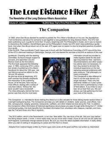The Companion - Appalachian Long Distance Hikers Association