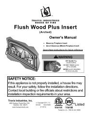 Flush Wood Plus Arched Manual - Fireplaces
