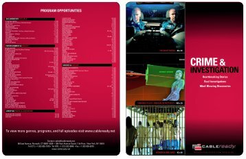 Crime and Investigation - CABLEready