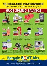 Huge spring savings - Bargain Boat Bits