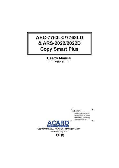 ACARD ARS-2022 DRIVER WINDOWS XP