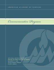 New Fellow Commemorative Program - American Academy of Nursing