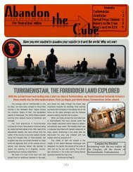 Newsletter - Abandon the Cube