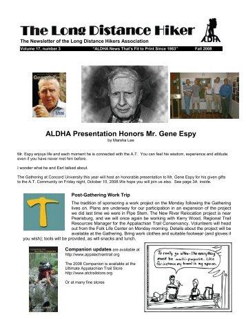 ALDHA Presentation Honors Mr. Gene Espy - Appalachian Long ...
