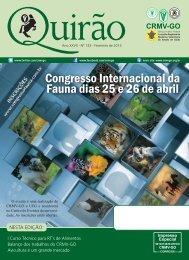 Congresso Internacional da Fauna dias 25 e 26 de abril