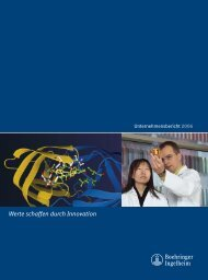 Unternehmensbericht deutsch - Boehringer Ingelheim Pharma ...