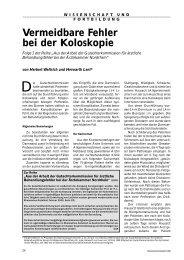 Vermeidbare Fehler bei der Koloskopie - Ärztekammer Nordrhein