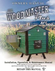 AFS 1100 Manual - Grain Burning Stoves by Prairie Fire Grain Energy