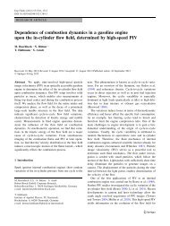 Dependence of combustion dynamics in a gasoline engine ... - IAP