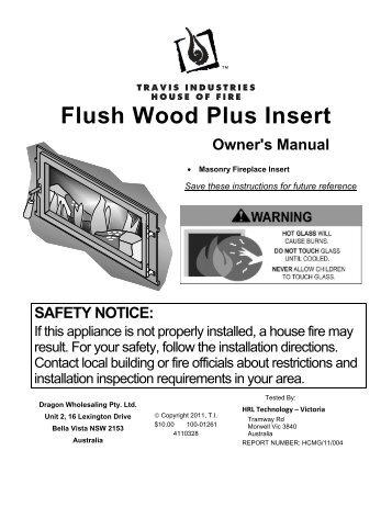 Flush Wood Plus Insert Owner's Manual - Lopi Fireplaces Australia