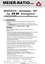 Baubeschreibung CT2T Multicar - Meier Ratio