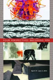 four perspectives : becoming mpa - McLean Project for the Arts