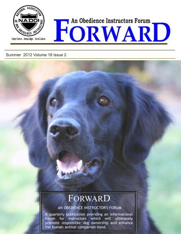 FORWARD - National Association of Dog Obedience Instructors