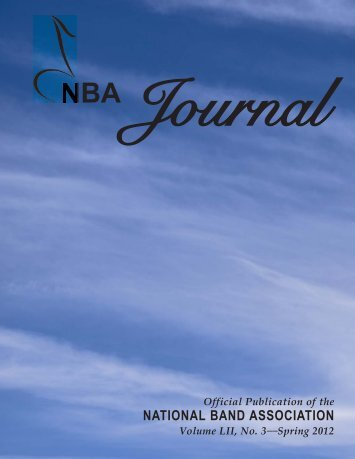 NBA 2012 Spring Journal - The National Band Association