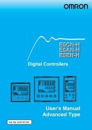 E5CNH E5AN-H E5EN-H Digital Controllers User's Manual - OMRON