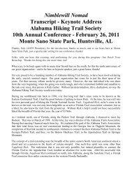 Nimblewill Nomad Transcript - Keynote Address Alabama Hiking ...