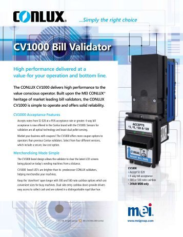 Cashcode bill validator Manual