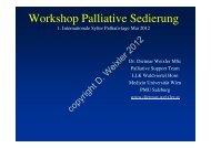 Workshop Palliative Sedierung - Internationale Sylter Palliativtage