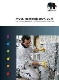 WDVS-Handbuch 2009 / 2010 - Caparol