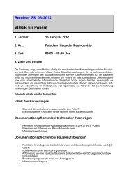 Seminar SR 03-2012 VOB/B für Poliere