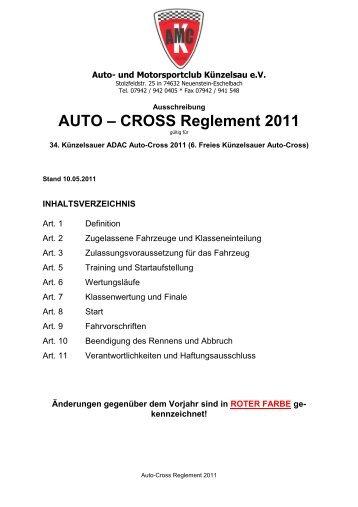 AUTO – CROSS Reglement 2011 - AMC Künzelsau