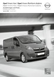 Opel Vivaro Van / Opel Vivaro Plattform-Kabine Opel ... - Opel Schweiz