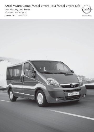 Opel Vivaro Combi / Opel Vivaro Tour / Opel Vivaro Life - Garage im ...