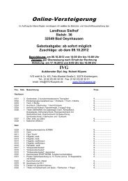 Online-Versteigerung - IVG mbH & Co. KG
