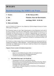 SR 03-2013 Bauleiterschulung: Die VOB/B in der Praxis