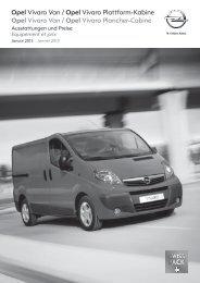 Vivaro Van/Plattform-Kabine - Opel Schweiz