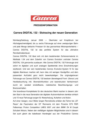 Carrera DIGITAL 132 - Slotracing der neuen Generation (Jänner