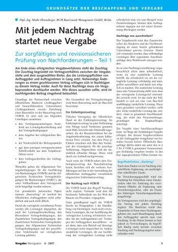 Nachtragsangebot Magazine