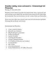 Enteneintopf mit Pfotschen - Michael Müller Verlag