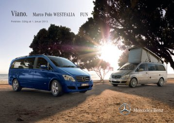 Viano. Marco Polo WESTFALIA FUN - Mercedes-Benz